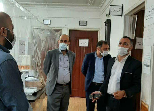 بازدید بخشدار خاوران از ادارات قیامدشت در آخرین روز هفته